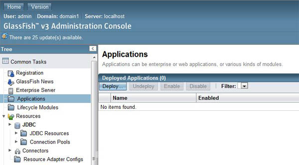 Glassfish applications